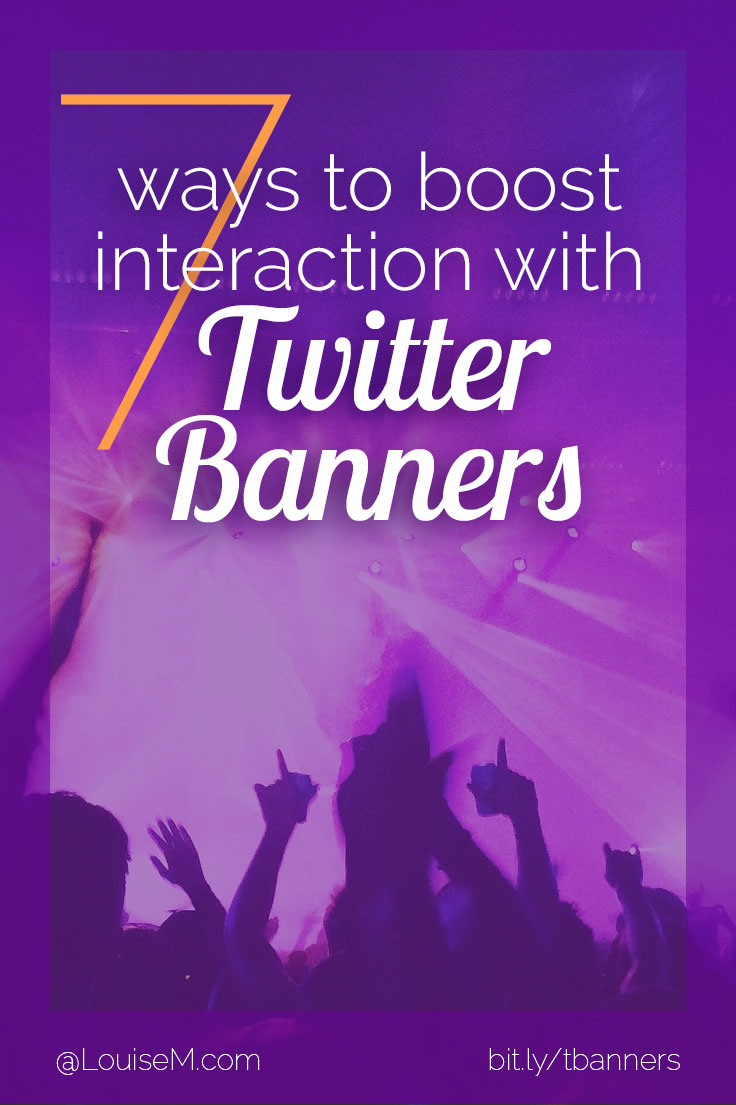 ant to improve your Twitter banners? Click through to blog to leverage this valuable first impression 7 ways!