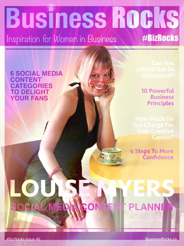 I also got a cover feature on BizRocks magazine!