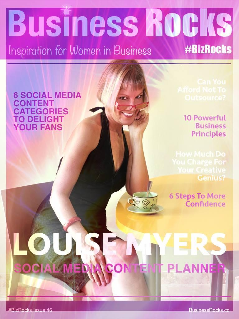 I also got a cover feature on BizRocks magazine!