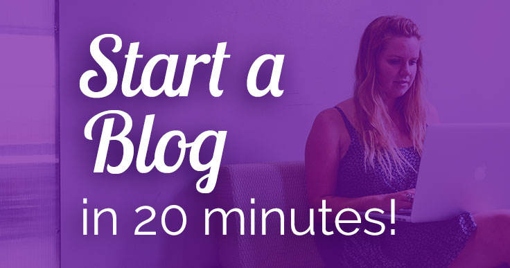 Want to start a blog, but are short on time? Learn how to start a blog as fast as possible, so you can establish your reputation as a subject matter expert!