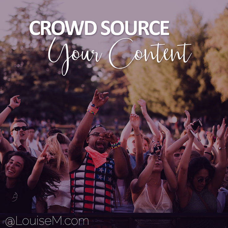 Crowdsourced content gets experts and/or your own community to contribute their opinions on a specific topic.