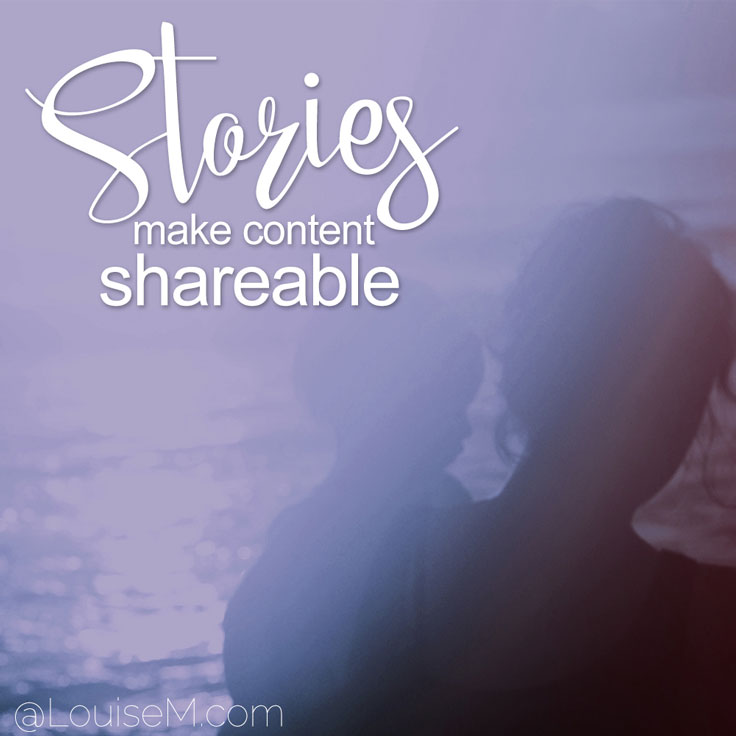 Go the extra mile in marketing your business by sharing your story.Stories make your content more shareable!