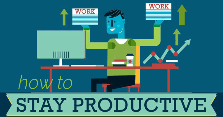 Wondering how to be productive all day? If you're on a deadline, the 11 tips on this infographic will help you stay productive when you're dragging!