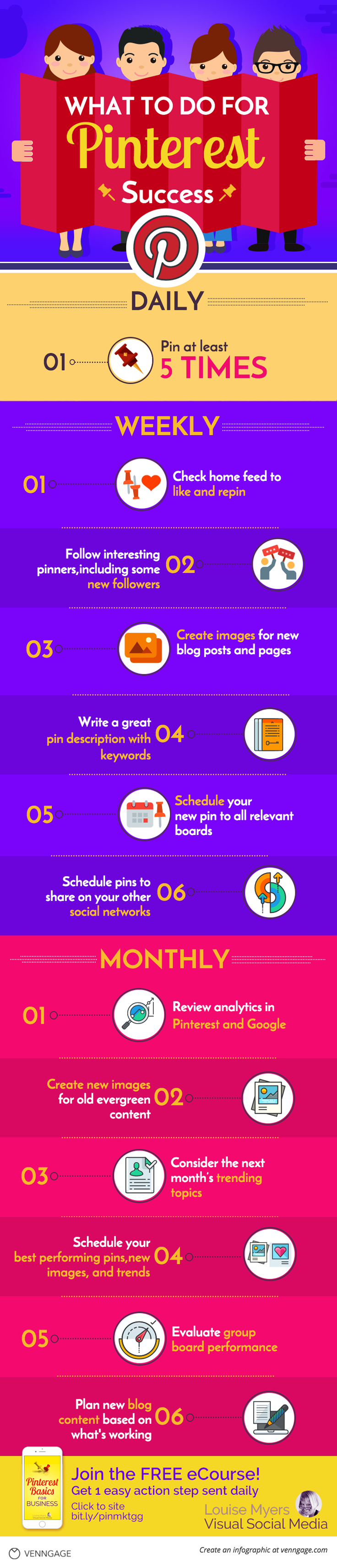 Craving Pinterest marketing success? There's ONE thing you need to do to succeed on Pinterest: be consistent. Learn the steps on a cool infographic!