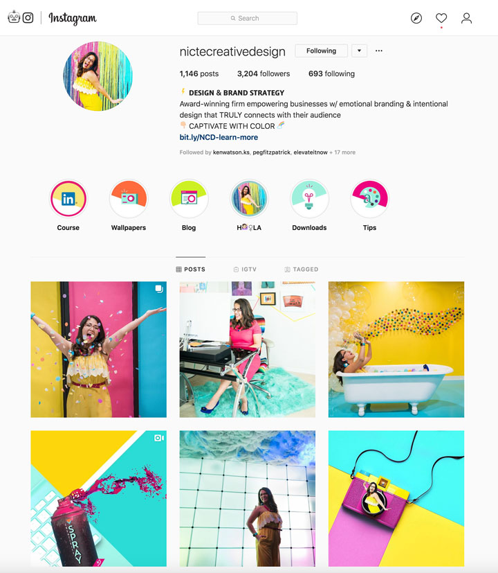 Instagram gallery example