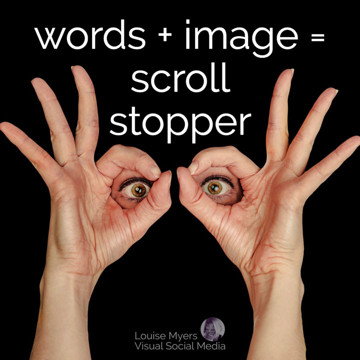 words plus image equals scroll stopper
