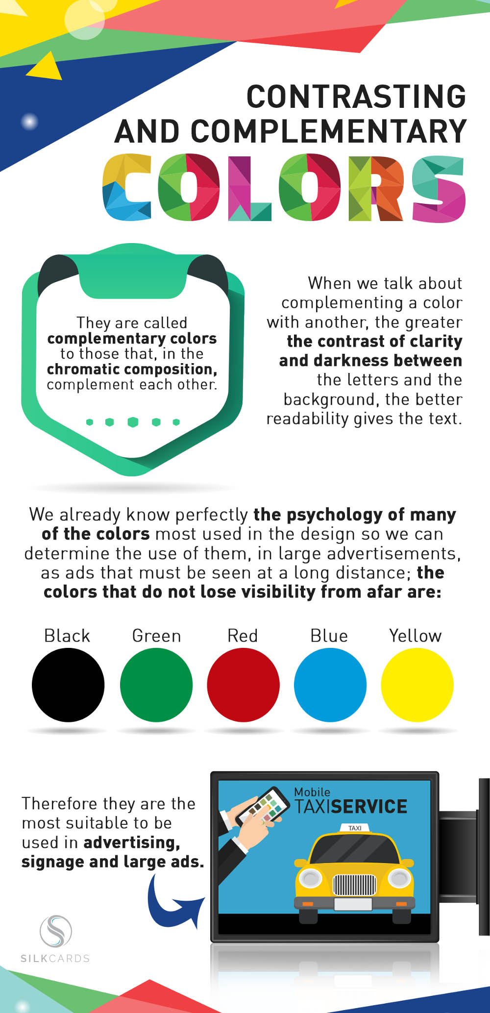 When we talk about complementing a color with another, the greater the contrast of clarity and darkness between the letters and the background, the better readability gives the text.