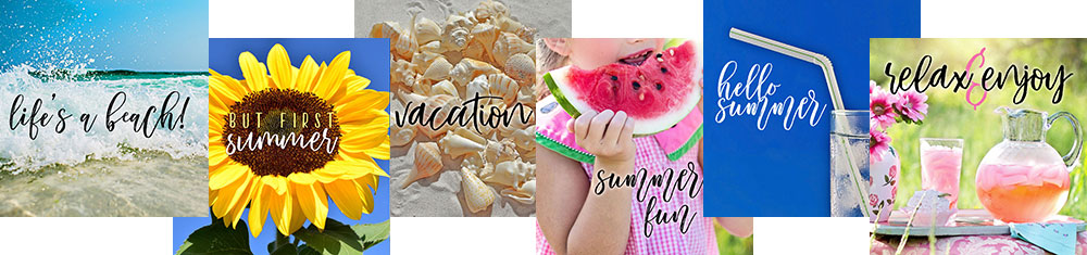Social media quote graphics for summer! Get these ready-made graphics FREE with any pack purchase, and take a little extra time for yourself this summer.