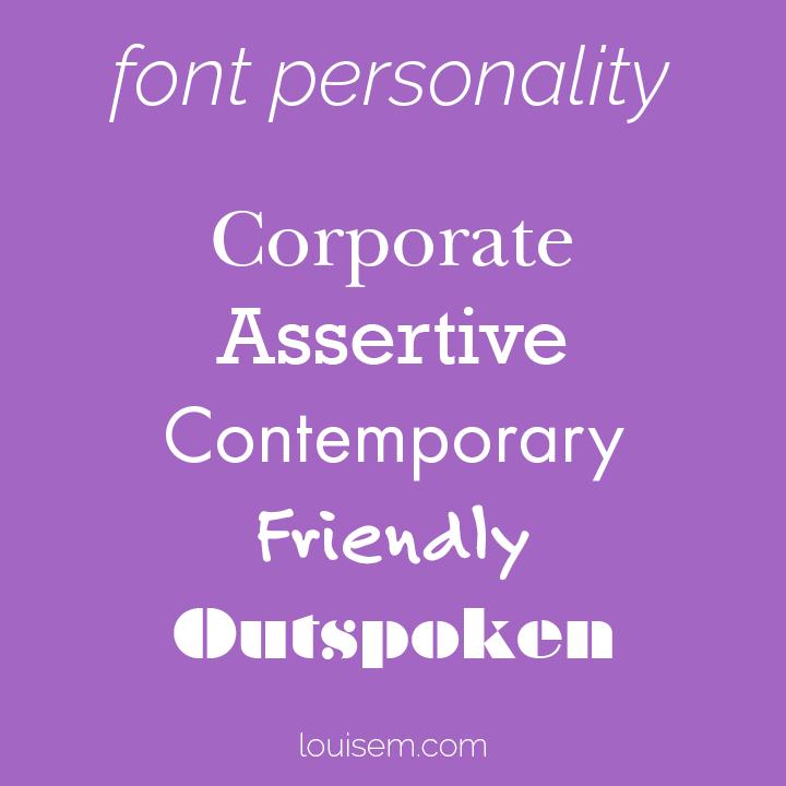 font personality chart