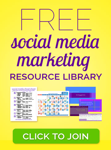 FREE social media marketing resources for small businesses, bloggers, entrepreneurs, and marketers. Printables, cheat sheets, templates and more. Join now!