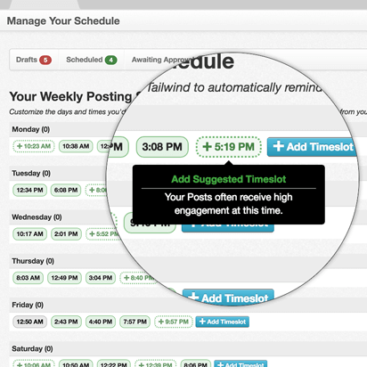 Smart Schedule, a unique feature among Instagram marketing tools that guides you to post when your followers are most engaged.