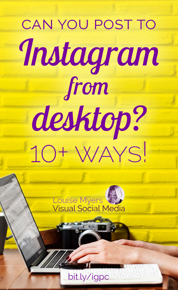 Want to post to Instagram from desktop? Compare and check out 10+ options to see which will work best for you. Some hacks, some Instagram-approved! More options too.