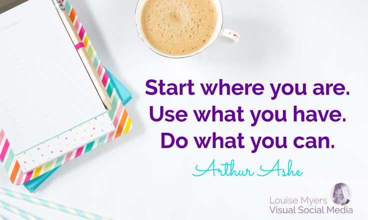 Start where you are. Use what you have. Do what you can. ~Arthur Ashe. Missinglettr is a great first step into automated social media for bloggers.
