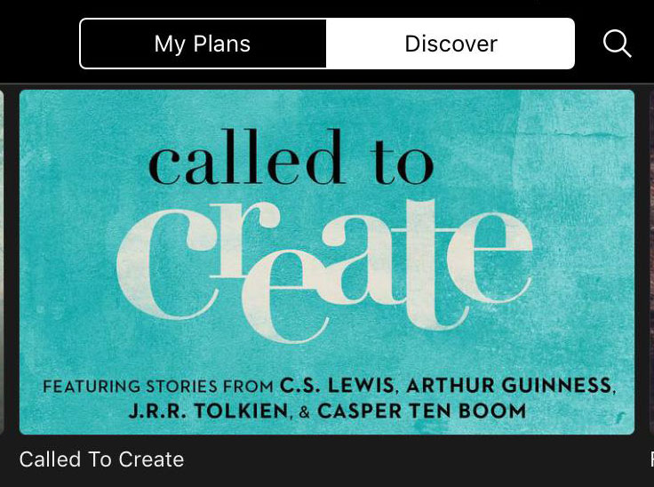 the new Called to Create reading plan on YouVersion