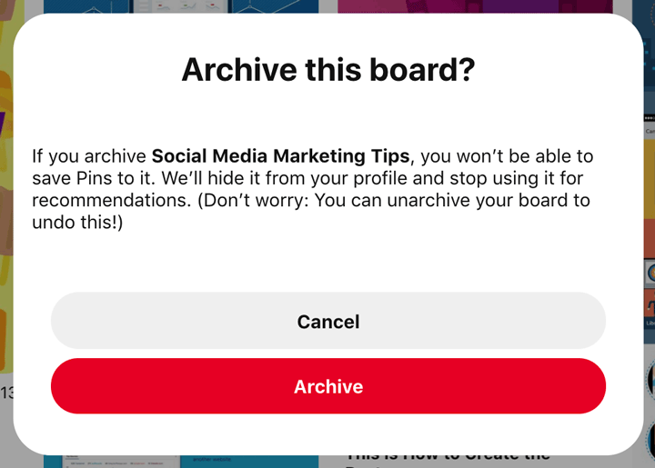verify by clicking Archive again
