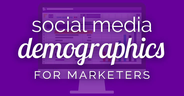 Why are Social Media demographics important? To determine which social media platforms your target audience is using! Get the scoop on this infographic.