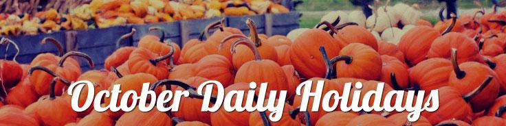 October 2017 Daily Holidays
