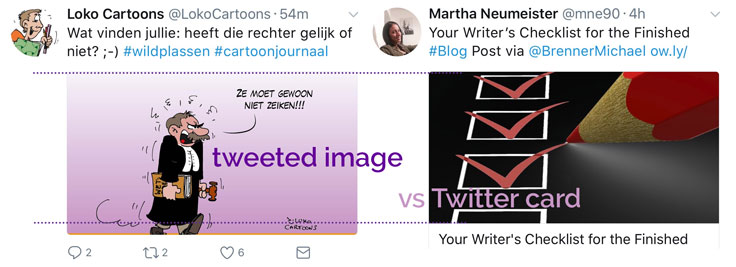 Tweeted image vs Twitter card size. Close but no cigar.