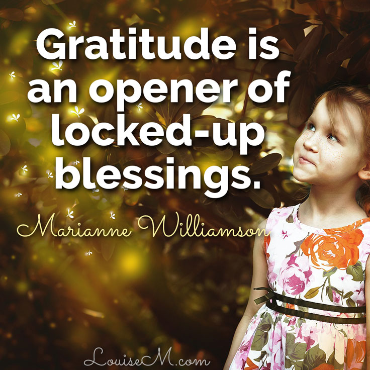 gratitude is an opener of locked-up blessings