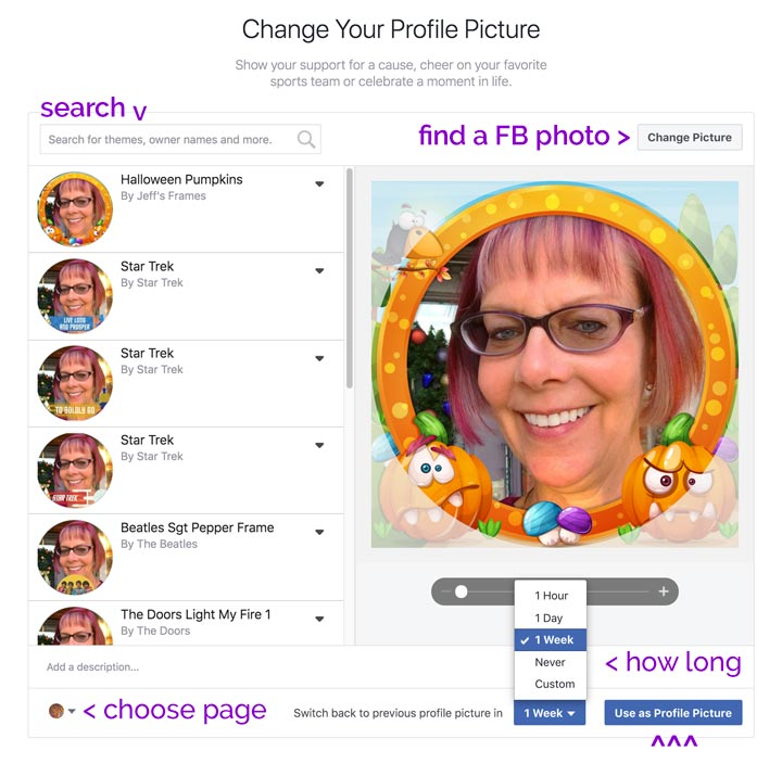 make Halloween Profile Pictures with Facebook frames