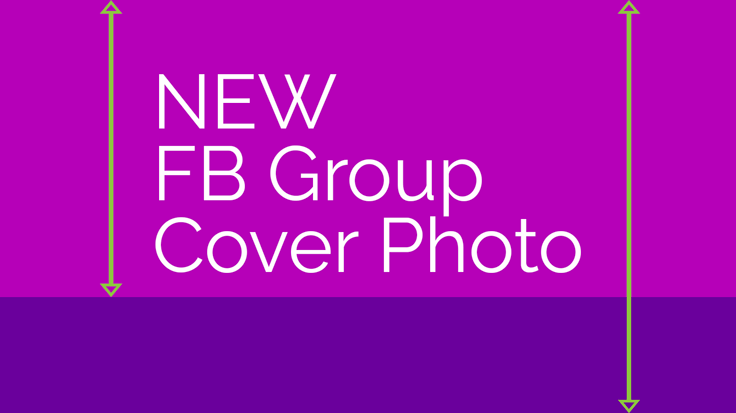 The Facebook group cover photo size just changed. It crops differently on every device, so you'll want to use this template!