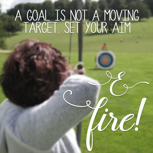 Success quotes: A goal is not a moving target. Set your aim and fire! But first, be sure to review your past business successes and failures.