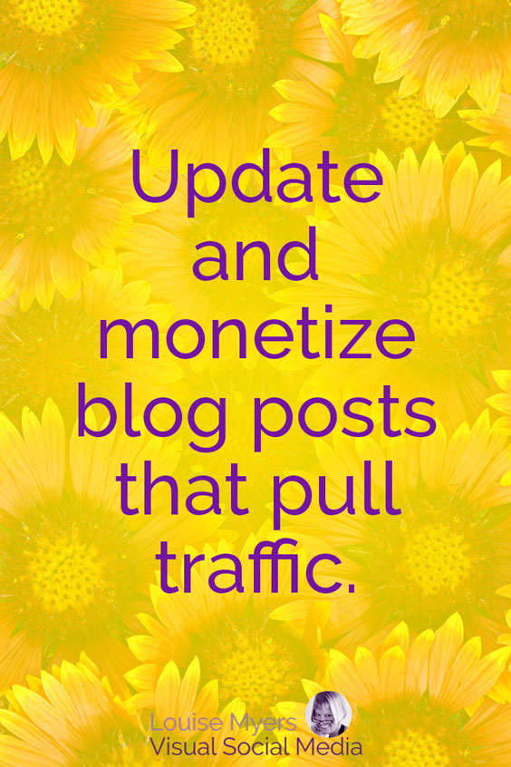 Update and monetize blog posts that get traffic. Ignore ones that don't.
