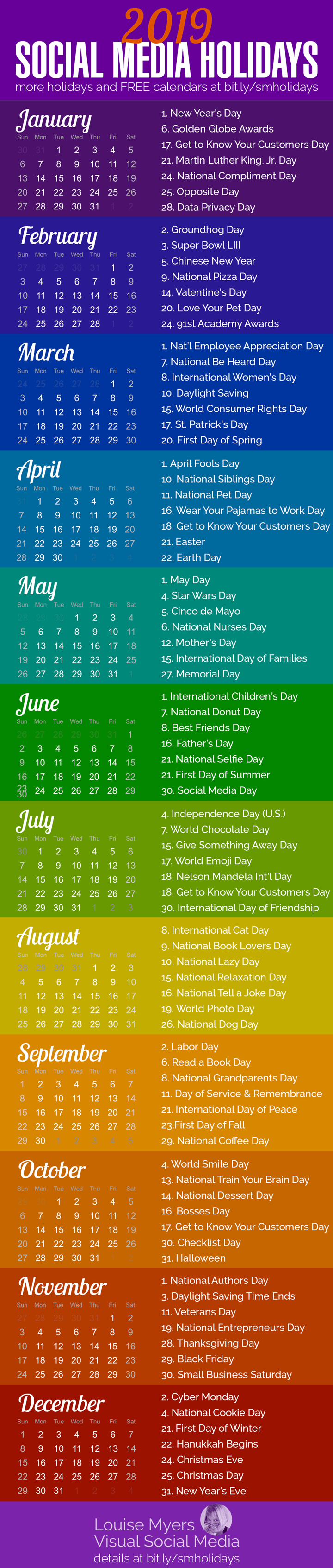ab46ae11875e 84 Social Media Holidays You Need in 2019: Indispensable!