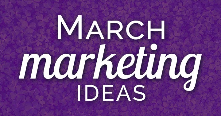 "Need March marketing ideas? Download a FREE content inspiration calendar! It's a lucky opportunity to market your business and make some ""green."""