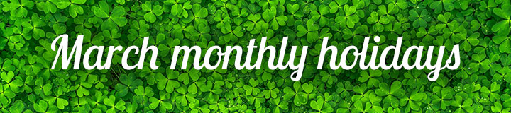 March monthly holidays banner