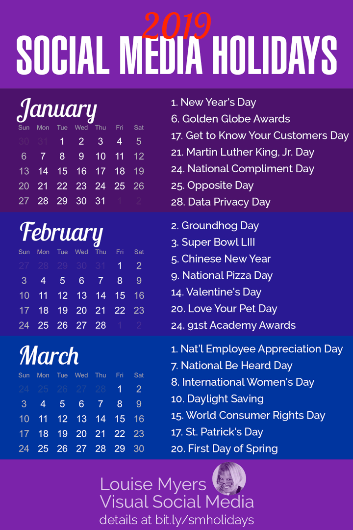 Appreciation Day Calendar 2019 84 Social Media Holidays You Need in 2019: Indispensable!