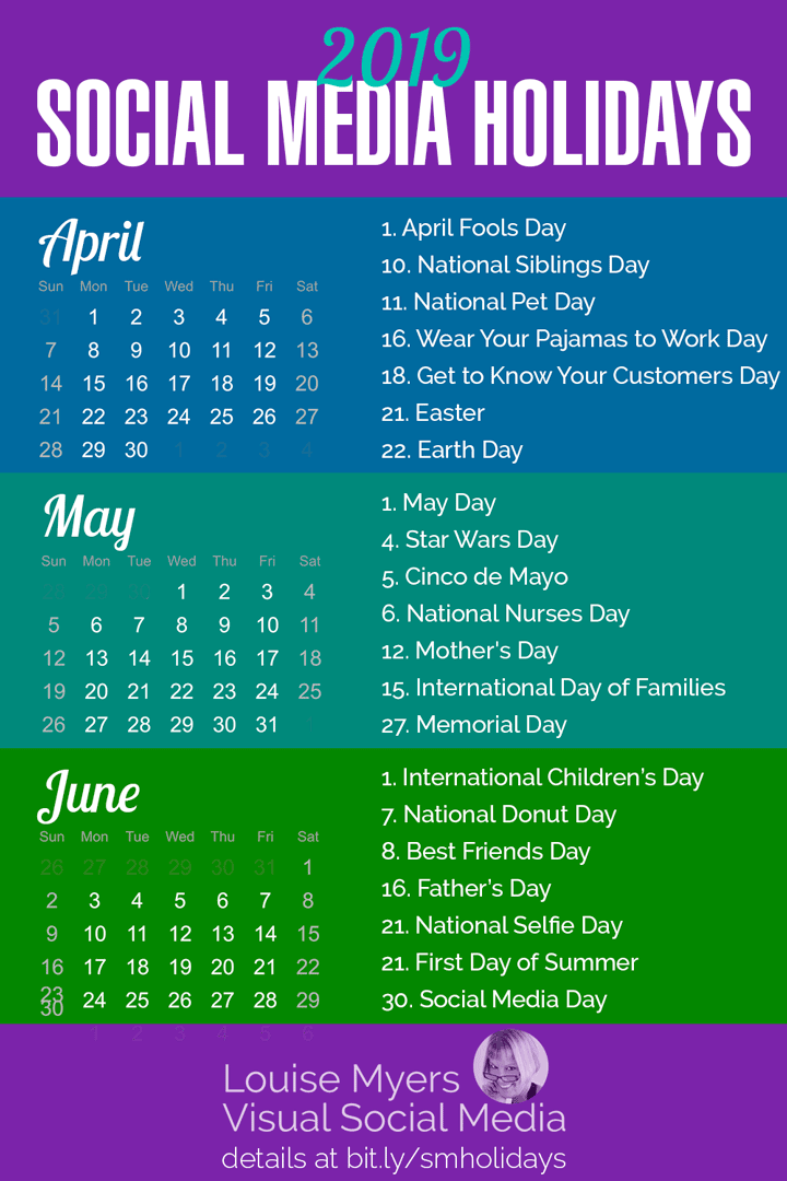 First Day Of Spring 2019 Calendar 84 Social Media Holidays You Need in 2019: Indispensable!