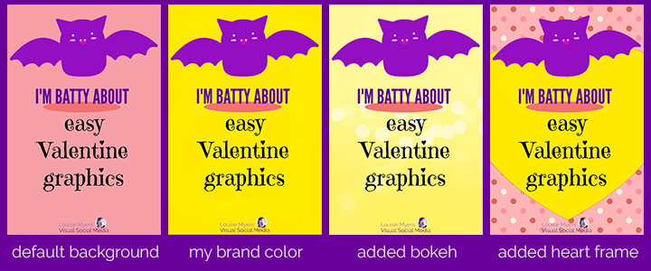 There are so many ways to customize PicMonkey Valentine templates with a click!