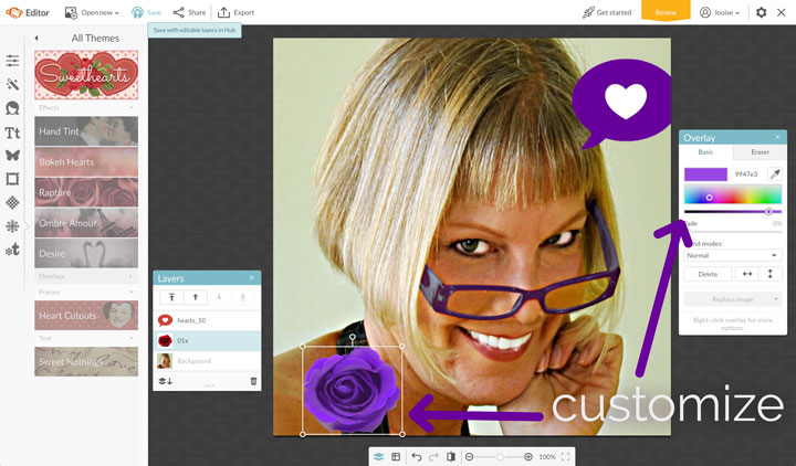 It's easy to show a little Valentine's Day love on your social media profile pic!