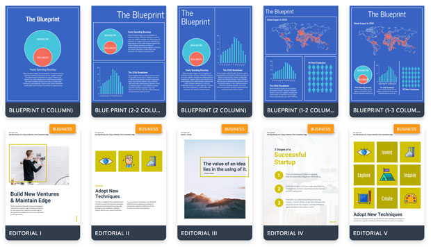 A tiny selection of the hundreds on infographic templates to choose from on Venngage!