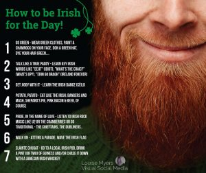 How to be Irish on St. Patrick's Day graphic