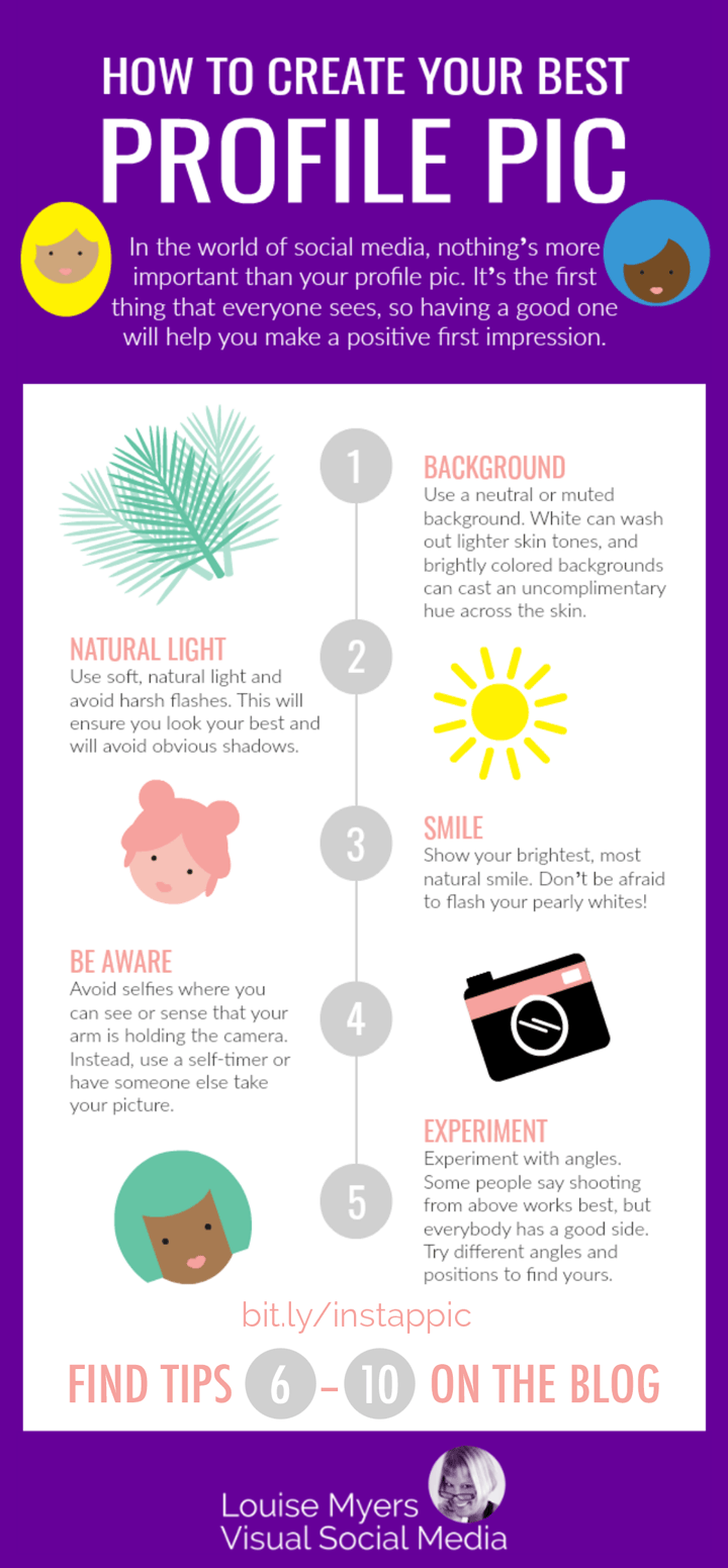 instagram profile picture tips infographic.
