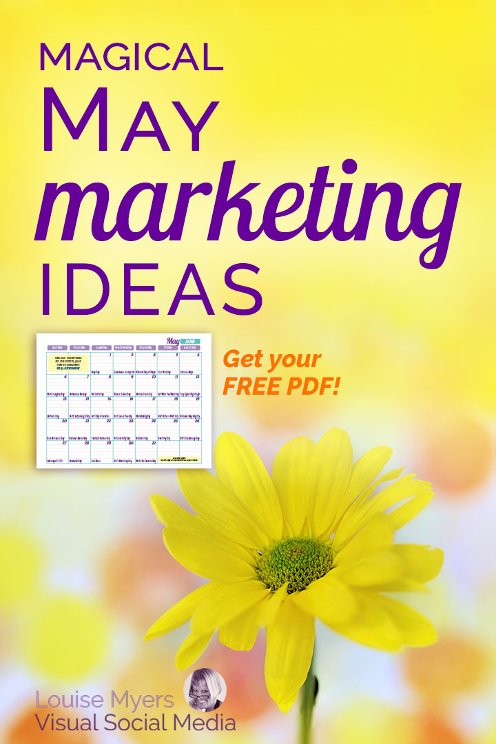 May marketing ideas FREE content inspiration calendar pin image