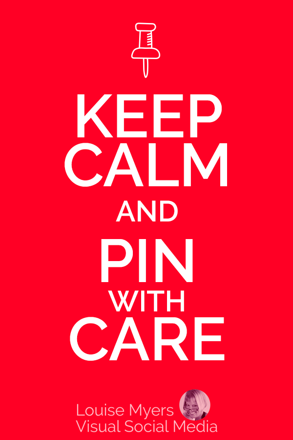 Be careful when saving Pins from Pinterest! Saving stolen Pins puts your own account at risk.