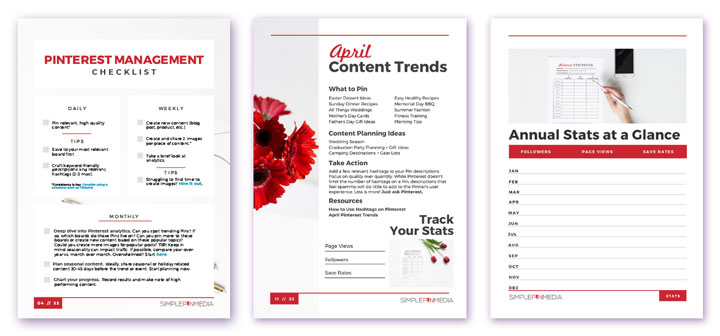 free Pinterest Planner pages