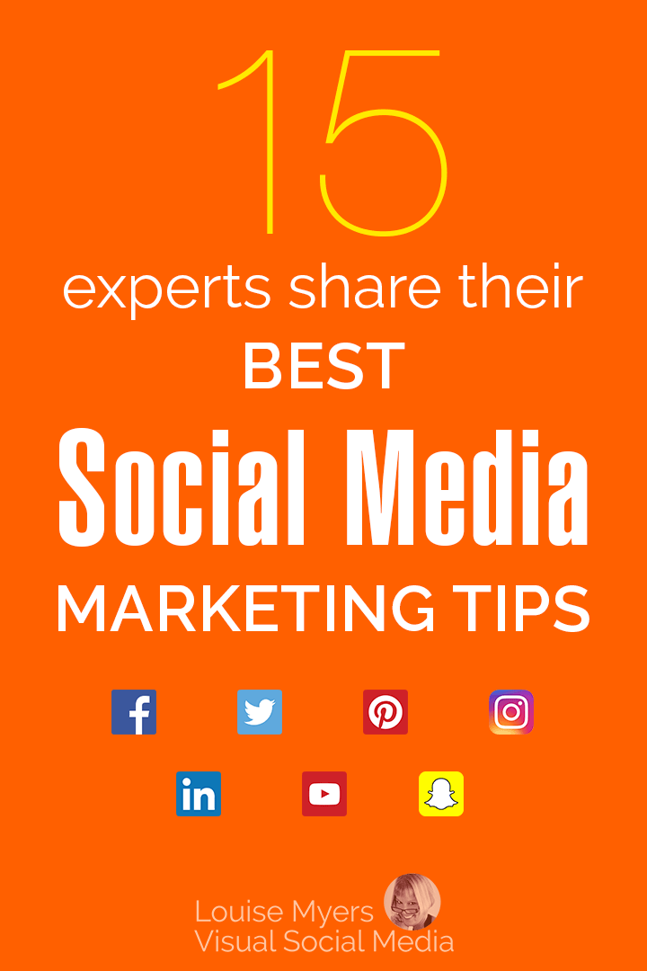 social media marketing tips pinnable image