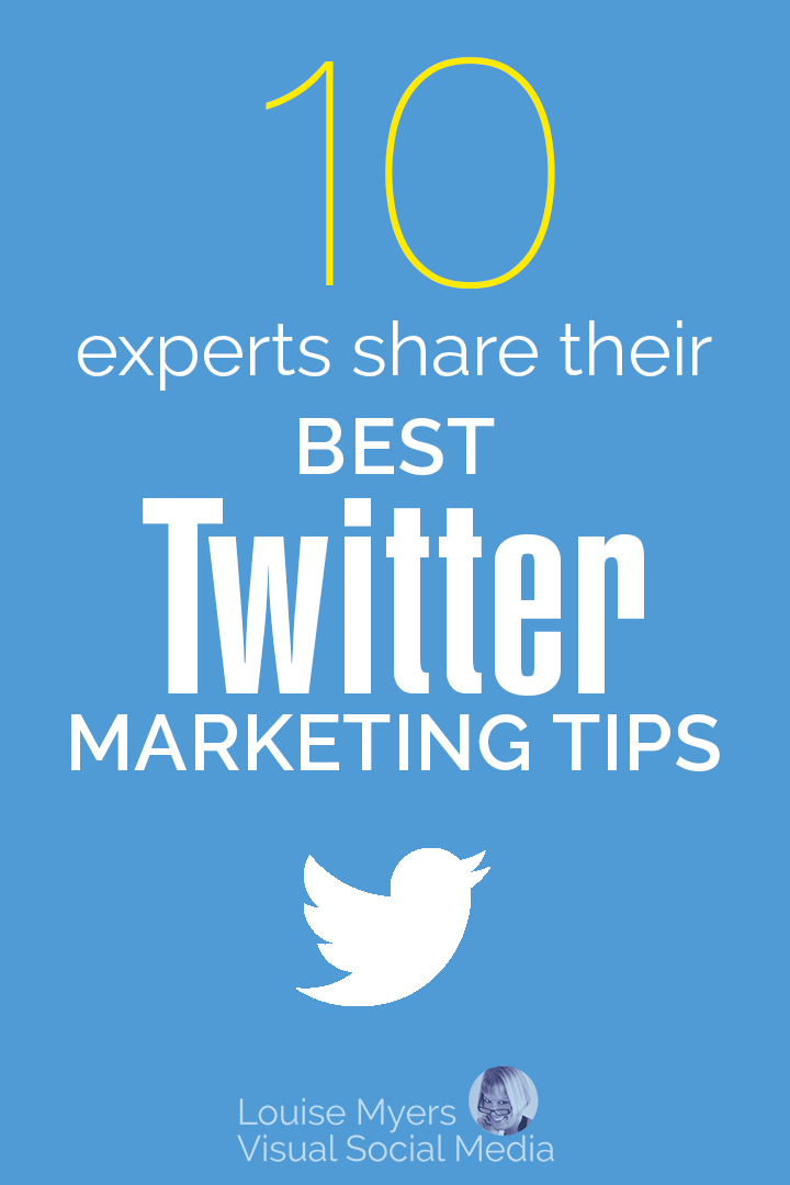 Twitter Marketing Tips pinnable graphic