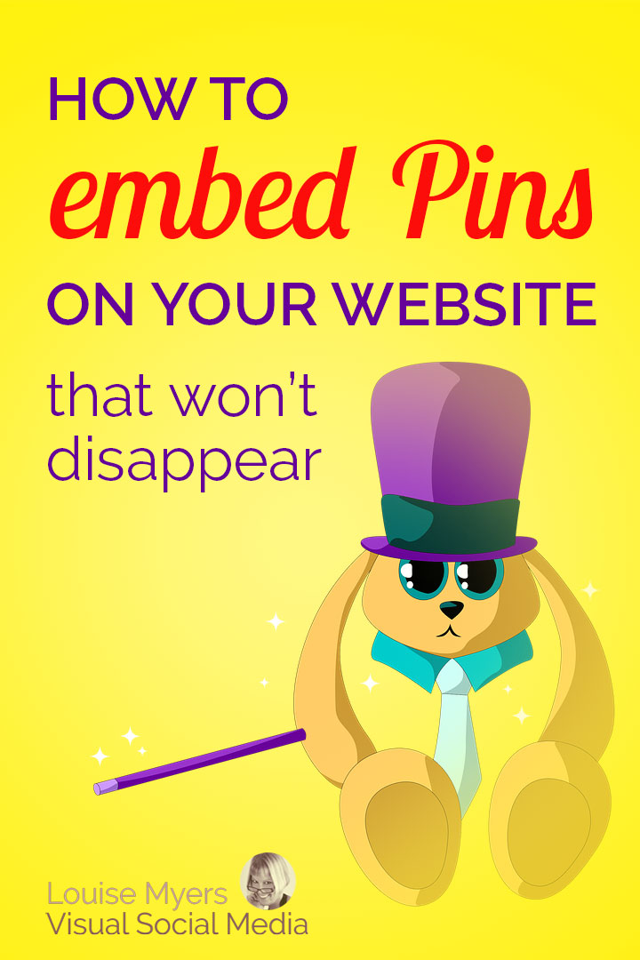 Want to embed Pinterest Pins? Or wish you could stop embedded Pins from disappearing? Learn how to embed Pinterest boards, profiles, and Pins that stay put.
