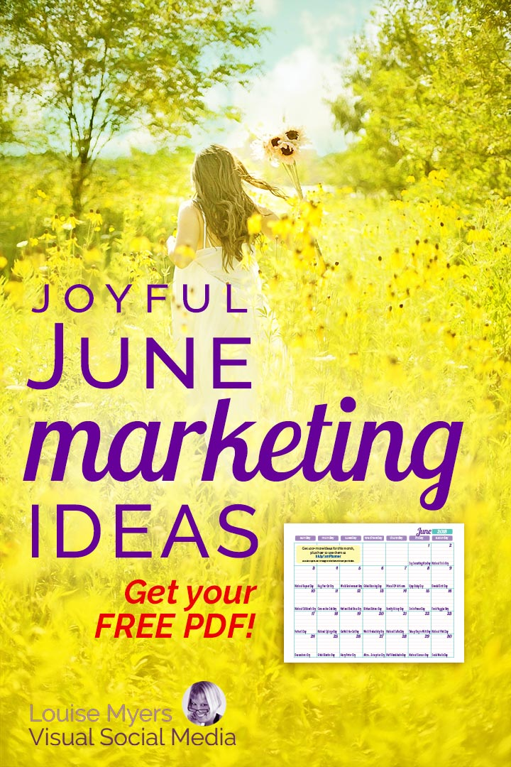 June marketing ideas pinnable graphic