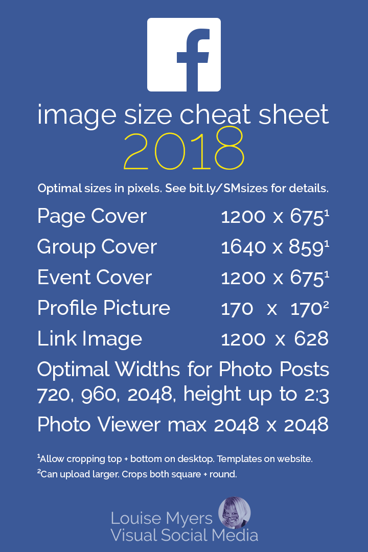 Facebook image sizes cheat sheet