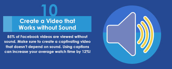 Facebook video should work without sound banner