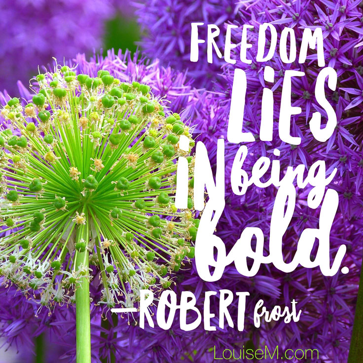 freedom lies in being bold quote image