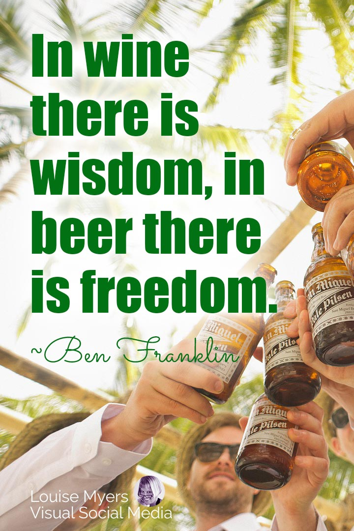 Ben Franklin freedom in beer quote image