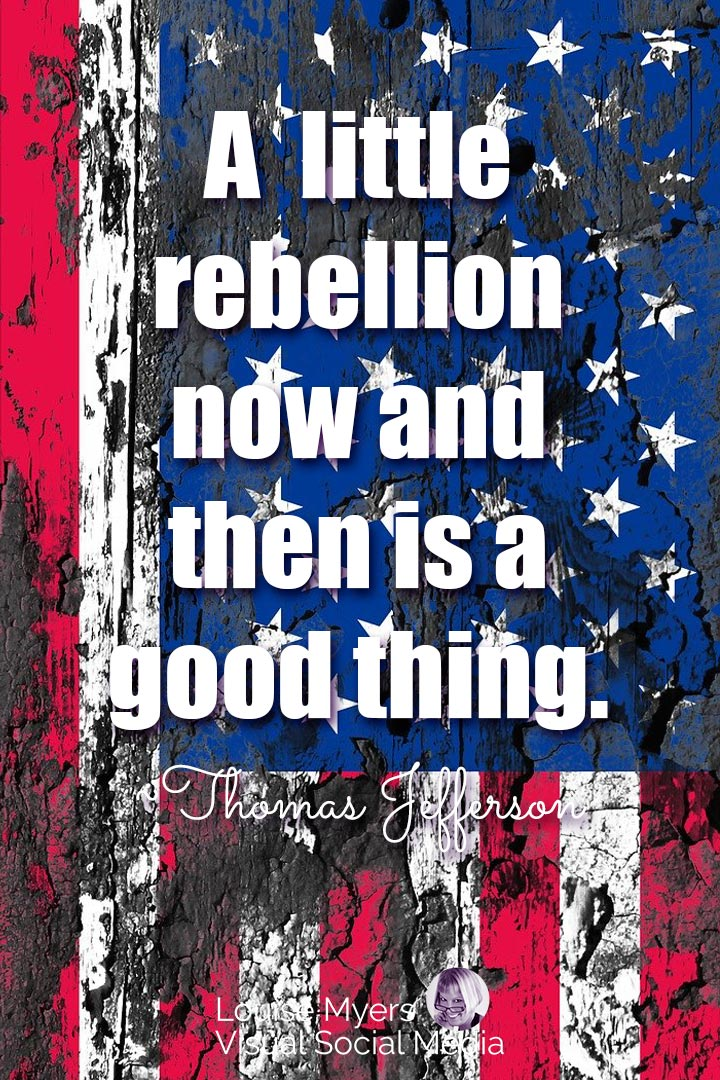 Thomas Jefferson freedom quote image on rebellion