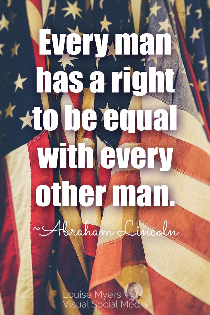 Abraham Lincoln equality quote image